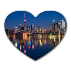 Buildings Can Cn Tower Canada Heart Mousepads