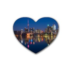 Buildings Can Cn Tower Canada Rubber Coaster (heart)