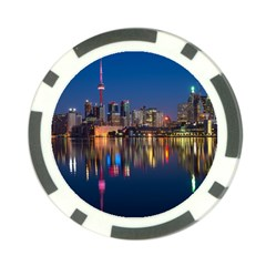 Buildings Can Cn Tower Canada Poker Chip Card Guard (10 Pack)