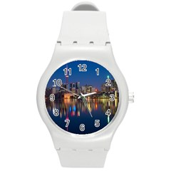 Buildings Can Cn Tower Canada Round Plastic Sport Watch (m)