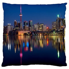 Buildings Can Cn Tower Canada Large Cushion Case (two Sides)