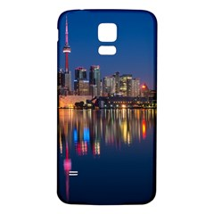 Buildings Can Cn Tower Canada Samsung Galaxy S5 Back Case (white)