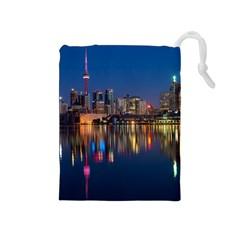 Buildings Can Cn Tower Canada Drawstring Pouches (medium)