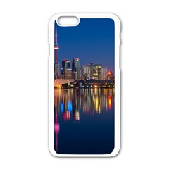 Buildings Can Cn Tower Canada Apple Iphone 6/6s White Enamel Case
