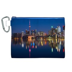 Buildings Can Cn Tower Canada Canvas Cosmetic Bag (xl)