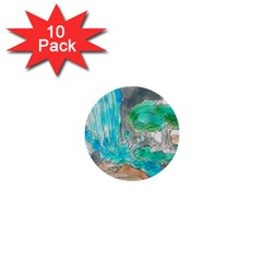 Doodle Sketch Drawing Landscape 1  Mini Buttons (10 Pack)