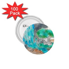 Doodle Sketch Drawing Landscape 1 75  Buttons (100 Pack)