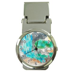 Doodle Sketch Drawing Landscape Money Clip Watches