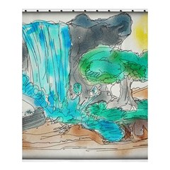 Doodle Sketch Drawing Landscape Shower Curtain 60  X 72  (medium)