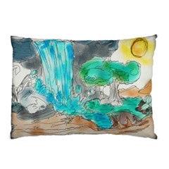 Doodle Sketch Drawing Landscape Pillow Case (two Sides)