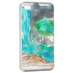 Doodle Sketch Drawing Landscape Apple Iphone 4/4s Seamless Case (white)