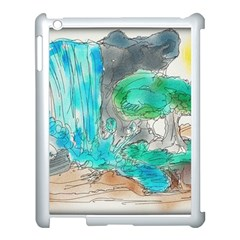 Doodle Sketch Drawing Landscape Apple Ipad 3/4 Case (white)