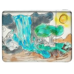 Doodle Sketch Drawing Landscape Samsung Galaxy Tab 7  P1000 Flip Case