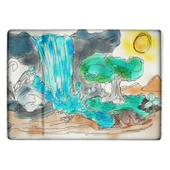 Doodle Sketch Drawing Landscape Samsung Galaxy Tab 10 1  P7500 Flip Case