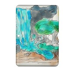 Doodle Sketch Drawing Landscape Samsung Galaxy Tab 2 (10 1 ) P5100 Hardshell Case