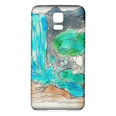 Doodle Sketch Drawing Landscape Samsung Galaxy S5 Back Case (white)