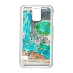 Doodle Sketch Drawing Landscape Samsung Galaxy S5 Case (white)