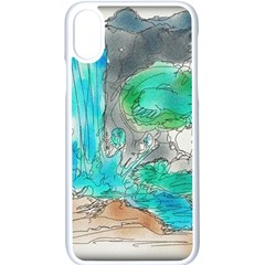 Doodle Sketch Drawing Landscape Apple Iphone X Seamless Case (white)