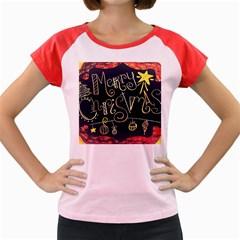Chalk Chalkboard Board Frame Women s Cap Sleeve T Shirt