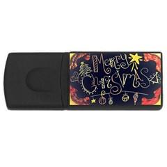 Chalk Chalkboard Board Frame Rectangular Usb Flash Drive