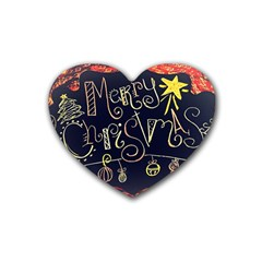 Chalk Chalkboard Board Frame Heart Coaster (4 Pack)