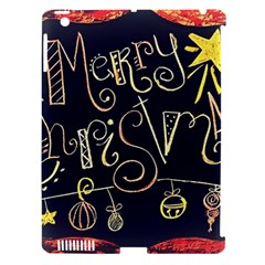 Chalk Chalkboard Board Frame Apple Ipad 3/4 Hardshell Case (compatible With Smart Cover)