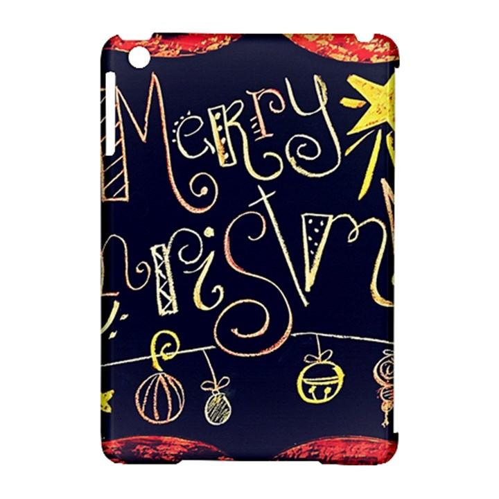 Chalk Chalkboard Board Frame Apple iPad Mini Hardshell Case (Compatible with Smart Cover)