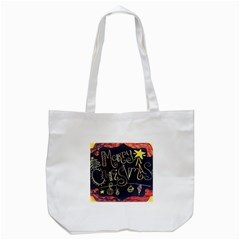Chalk Chalkboard Board Frame Tote Bag (white)