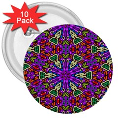 Seamless Tileable Pattern Design 3  Buttons (10 Pack)
