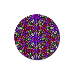 Seamless Tileable Pattern Design Rubber Coaster (round)