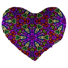 Seamless Tileable Pattern Design Large 19  Premium Flano Heart Shape Cushions