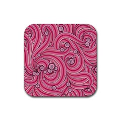 Pattern Doodle Design Drawing Rubber Square Coaster (4 Pack)