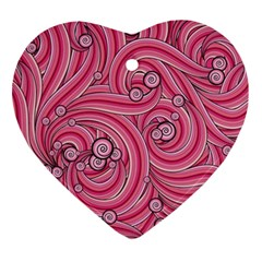 Pattern Doodle Design Drawing Heart Ornament (two Sides)
