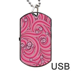 Pattern Doodle Design Drawing Dog Tag Usb Flash (two Sides)