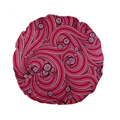 Pattern Doodle Design Drawing Standard 15  Premium Flano Round Cushions