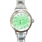 Dirty Dirt Structure Texture Round Italian Charm Watch Front