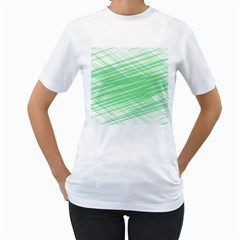 Dirty Dirt Structure Texture Women s T Shirt (white) (two Sided)