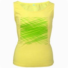 Dirty Dirt Structure Texture Women s Yellow Tank Top