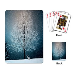 Winter Wintry Snow Snow Landscape Playing Card