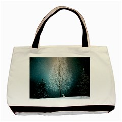 Winter Wintry Snow Snow Landscape Basic Tote Bag