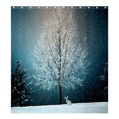 Winter Wintry Snow Snow Landscape Shower Curtain 66  X 72  (large)