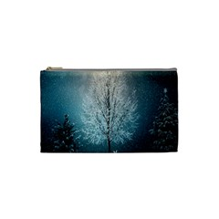 Winter Wintry Snow Snow Landscape Cosmetic Bag (small)