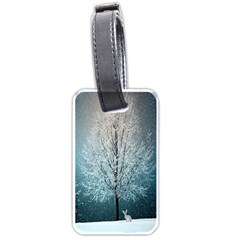 Winter Wintry Snow Snow Landscape Luggage Tags (one Side)