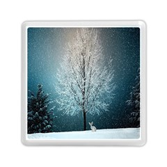 Winter Wintry Snow Snow Landscape Memory Card Reader (square)