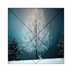 Winter Wintry Snow Snow Landscape Acrylic Tangram Puzzle (6  X 6 )