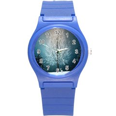 Winter Wintry Snow Snow Landscape Round Plastic Sport Watch (s)