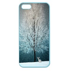 Winter Wintry Snow Snow Landscape Apple Seamless Iphone 5 Case (color)