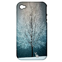 Winter Wintry Snow Snow Landscape Apple Iphone 4/4s Hardshell Case (pc+silicone)