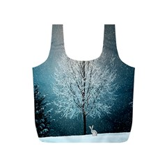 Winter Wintry Snow Snow Landscape Full Print Recycle Bags (s)