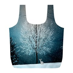 Winter Wintry Snow Snow Landscape Full Print Recycle Bags (l)